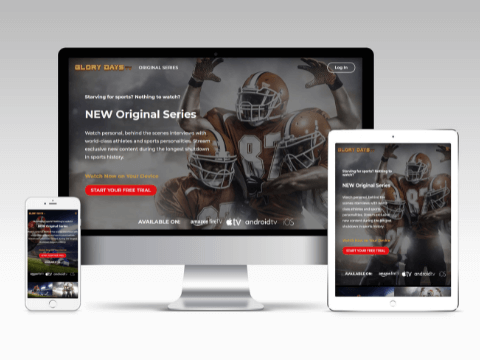 Glory Days TV Web Design